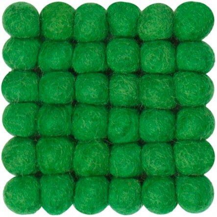 myfelt Franz, square, green Glass Coaster, 9 x 9 cm