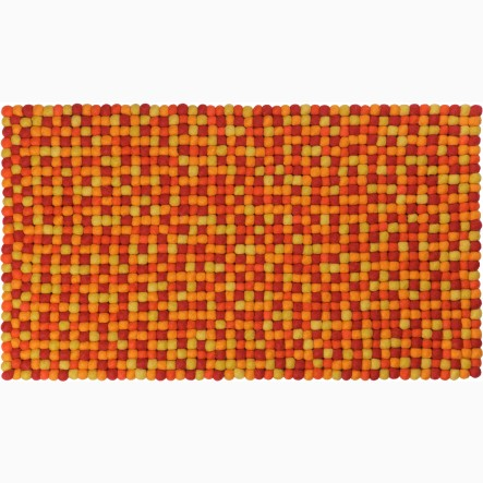 myfelt Loni Table Runner orange and red, 40 x 70 cm (also available in 40 x 140 cm)