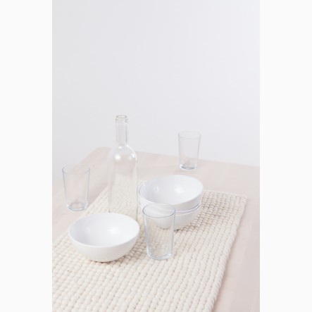 myfelt Table Runner white, 40 x 70 cm