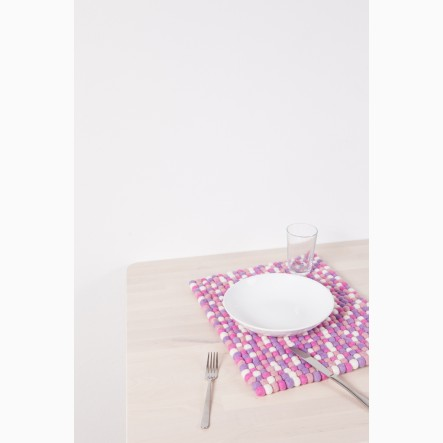 myfelt Rosa Place Mat pink and rose, rectangular, 35 x 45 cm