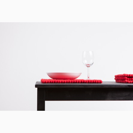 myfelt Cera Place Mat red, rectangular, 35 x 45 cm