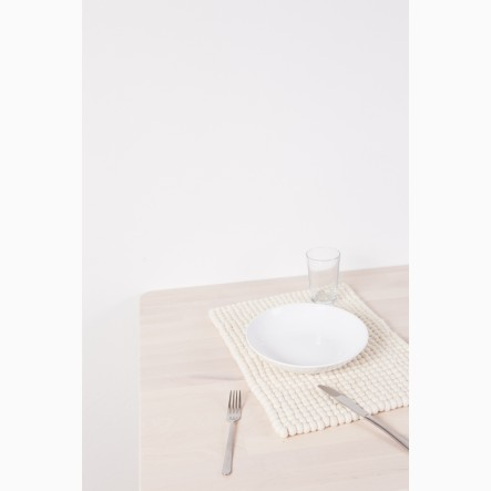 myfelt Linéa Felt Ball-Table Mat white, rectangular, 35 x 45 cm