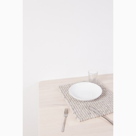 myfelt Béla Felt Ball-Table Mat beige, rectangular, 35 x 45 cm