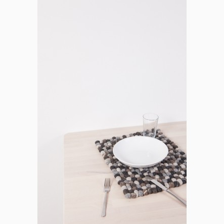 myfelt Hardy Felt Ball-Table Mat from felt stones, rectangular, 35 x 45 cm