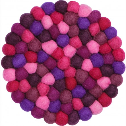 myfelt Viola Pot Coaster purple, round, Ø 20 cm