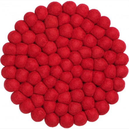 myfelt Cera Pot Coaster red, round, Ø 20 cm