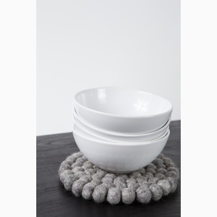 myfelt Pot Coaster, round, grey, Ø 20 cm