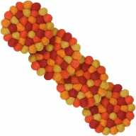 Loni — round Coaster in red and yellow (9 cm, Set of 4 pcs.)