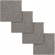 Carl — square Seat Pad in gray (36 x 36 cm, Set of 4 pcs.)