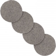 Carl — round Seat Pad in gray (36 cm, Set of 4 pcs.)