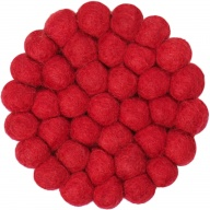myfelt Cera, round Glass Coaster red, Ø 9 cm