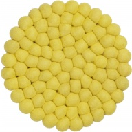 myfelt Malina Pot Coaster yellow, round, Ø 20 cm