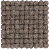myfelt Alwin Pot Coaster, brown, square, 20 x 20 cm